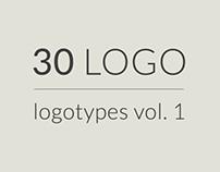 30 logos, logotypes vol 1