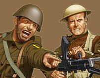 WW2 Greek Infantry in action!