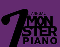 Monster Piano Music Poster