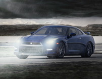 NIssan GT-R Photoshop Composition/Digital Painting