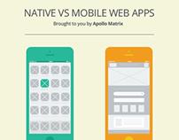 Native vs Mobile Web Apps Infographic