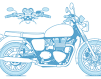 """Illustrations for """"The Total Motorcycle Manual"""""""