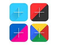 9 Popular Social Network Icon Simple Flat Long Shadow