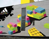 Projecto de ilustração - Adidas, edição especial Lego.