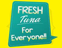 Tuna Canned Label Design
