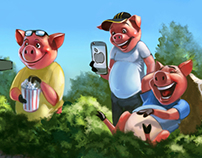 3 pigs. Gadgets in fairy tales. GIF - just for fun!