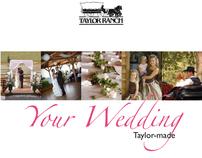 16-page brochure for wedding venue Taylor Ranch