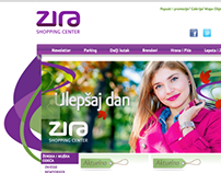 Website CMS designed for Zira Shopping Center
