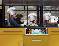 advertising on bus