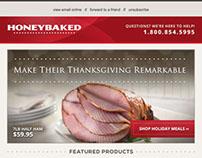 HoneyBaked Ham Email Marketing Thanksgiving 2013