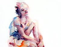 Watercolor Sketches-Figures