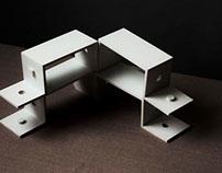 Lego-modular shelf