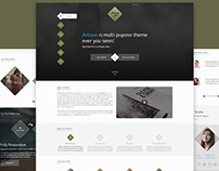 Artoon – One Page PSD Template