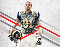 Red Cross NFL Rams: Holiday Card