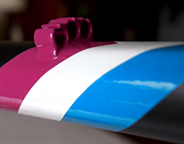 Custom Painted Rosko/Rouler Cyclocross Frame