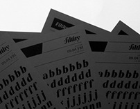Filthy Black Italic - Specimen Sheet