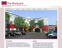 Mockup of the Brickyard Office Complex website