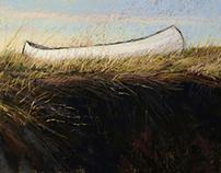 Canoe on the Salt Marsh.Near Castle Hill