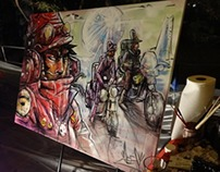 Live Painting - Art of War, Oct 17th, 2013