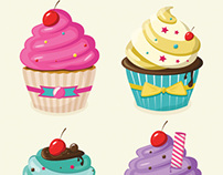 Layerform Vector Cupcakes