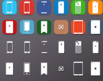 Apple Mobile Flat Icons (Free PSD)