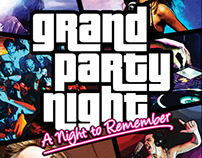 Grand Party Night Flyer - GTA Style