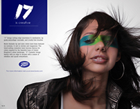 Advert for cosmetic