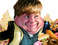 Chris Farley Caricature (2013) Colored Pencil