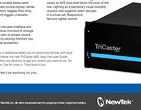 Newtek TriCaster Cheat Sheets