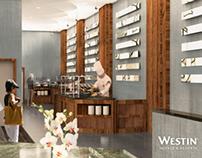 The Westin Bellevue — Cypress Lounge 3D Visualization