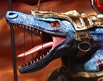 3D renders - Renekton, Veigar & Zac - League of Legends