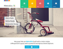 Metrolics - Business Metro Sytle PSD Template