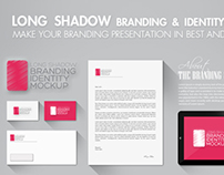 Long Shadow Branding & Identity Mockup