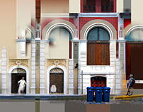 Old San Juan Facade Collages 1
