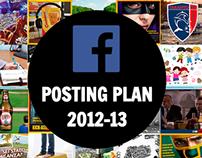 Facebook Posting Plan 2012-13