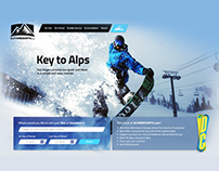 Ski (Snow Boarding) Brand Store Web Site GUI