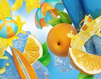 Orange Water Ice Visual