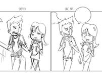 Sketch X Line art