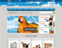 Professional Care Of Your Pets Store OpenCart Theme