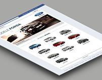 Ford Models facebook application design