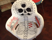 The Skeleton, The Bat & The Raven. CHAIR