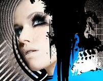 Blue Faces Illustration