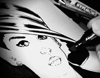 Selina Kyle sketch - The Dark Knight Rises
