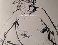 Nude life drawings 2012-2013 – Sketchbook part II