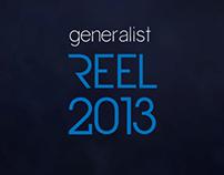 3D Generalist Reel 2013