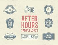 After Hours Pub Sample Logo's