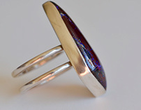 Opal 2 band ring