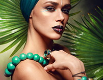 """""""WILD"""" beauty from INDIRA'S WORK fashion production"""