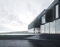 Icelandic coastal house