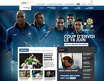FFF ( Fédération française de football) new website